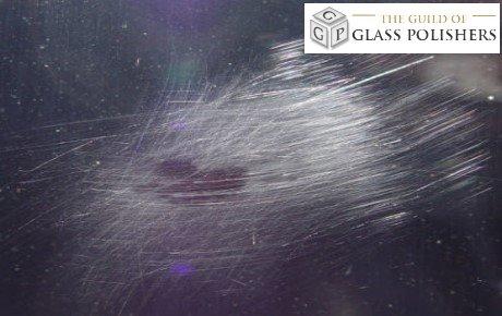 scratched glass - brillo scratches