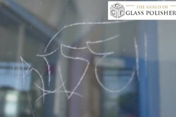 Scratched Glass - Graffiti Scratching
