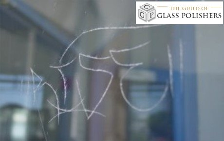 scratched glass graffiti scratching the guild of glass polishers. Black Bedroom Furniture Sets. Home Design Ideas